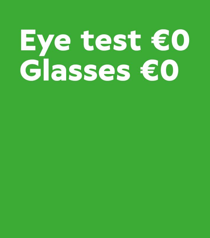 Free eye test and glasses