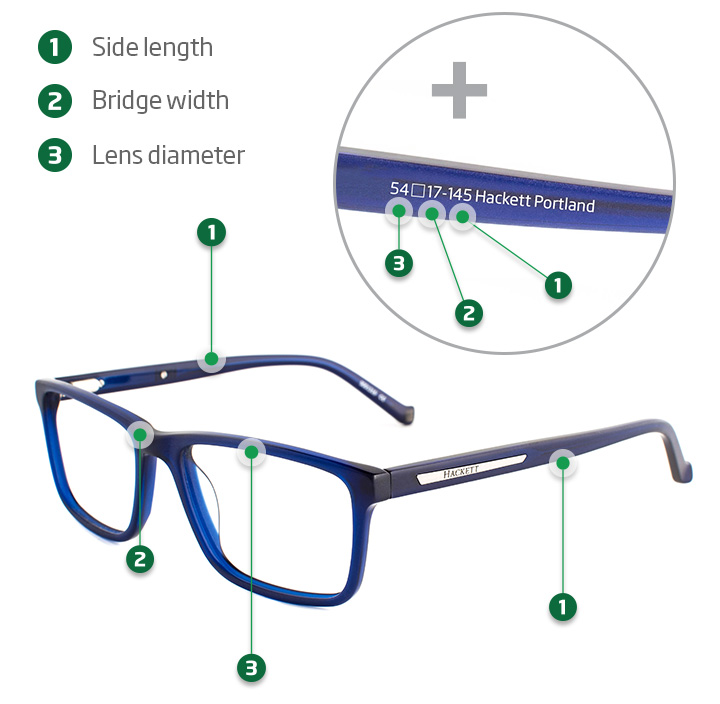 Glasses Frame Measurements – Finding The Right Fit | Specsavers IE